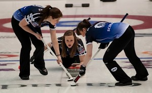 Saint John N.B.Mar17_2014.Ford World Woman's Curling Championship.Scotland skip Kerry Barr.CCA/micahael burns photo
