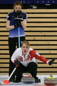 The two third players - Scotland's Naomi Brown and Canada's Keely Brown