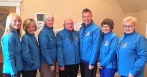 from left to right, Alison Cunningham, Jan Howard, Ann-Maree Davidson, Albert Middler, David Jones, Kirtsy Letton and Pam Mackay.